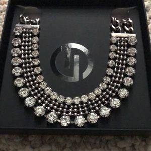 Dylanlex silver and Swarovski crystal necklace